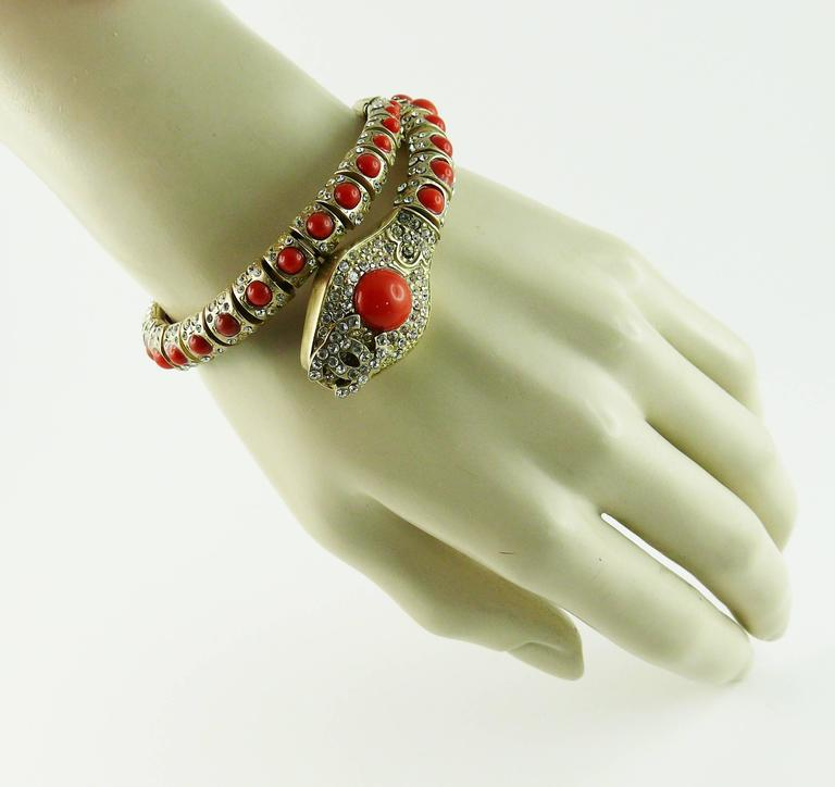 Chanel Jewelled Articulated Snake Bracelet  For Sale 1