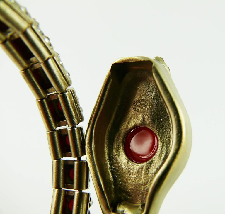 Chanel Jewelled Articulated Snake Bracelet  For Sale 6