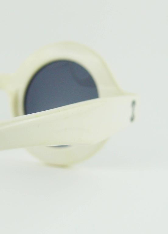Chanel Extremely Rare Vintage 1990s White Logo Sunglasses For Sale 4