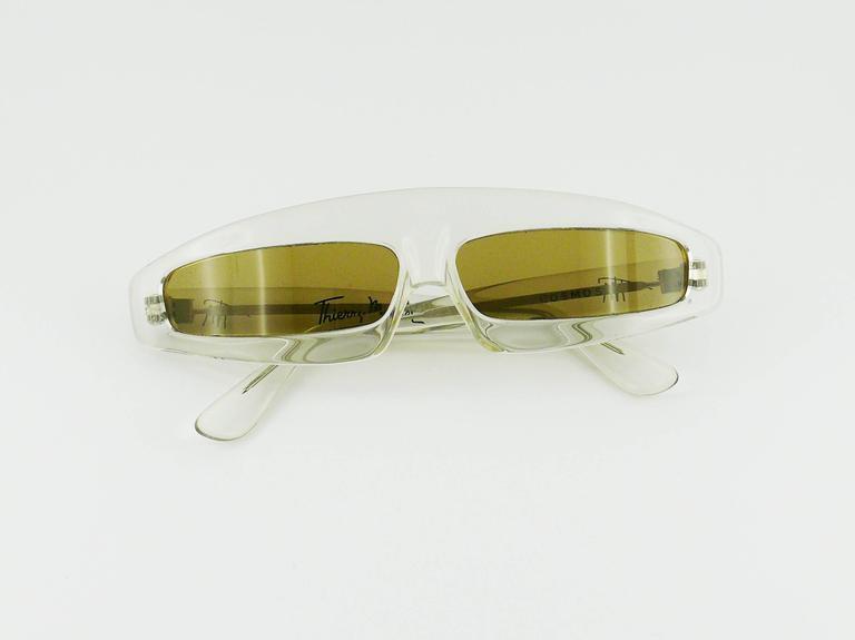 Thierry Mugler Vintage Rare Iconic Cosmos Sunglasses Vogue Paris 1979 6
