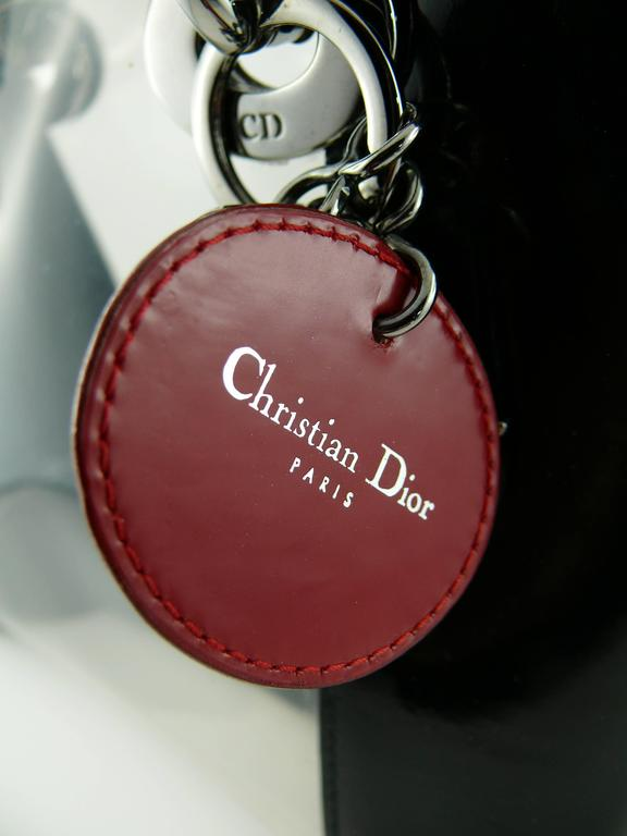 "Christian Dior Rare Mini Transparent ""Lady Dior"" 7"