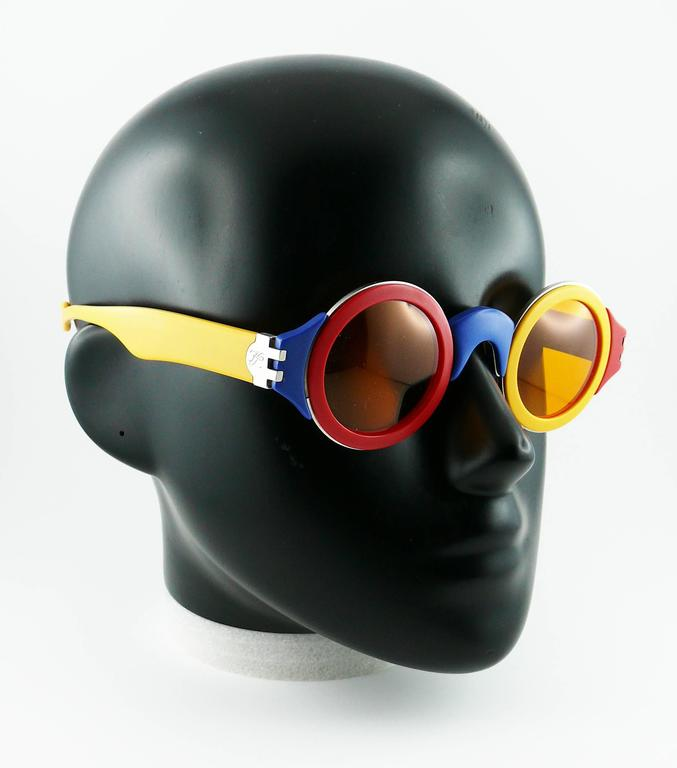 Karl Lagerfeld Vintage Rare 1985 Colorful Sunglasses Limited Edition 2