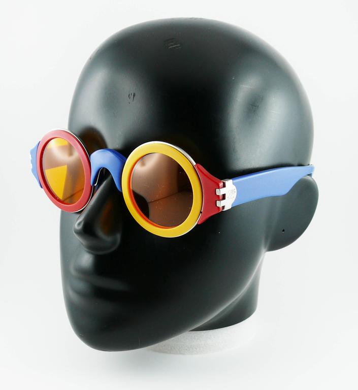 Karl Lagerfeld Vintage Rare 1985 Colorful Sunglasses Limited Edition 4