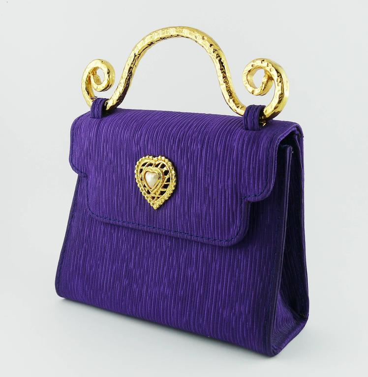 Edouard Rambaud Vintage Purple Evening Bag   5