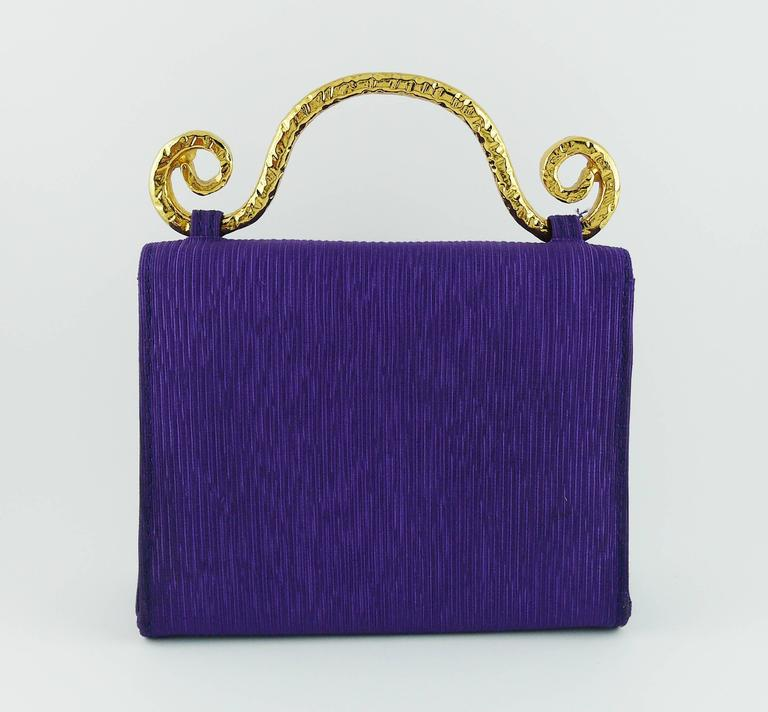 Edouard Rambaud Vintage Purple Evening Bag   7