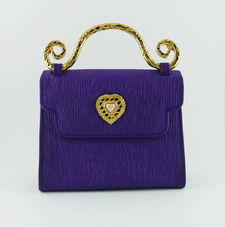 Edouard Rambaud Vintage Purple Evening Bag   3