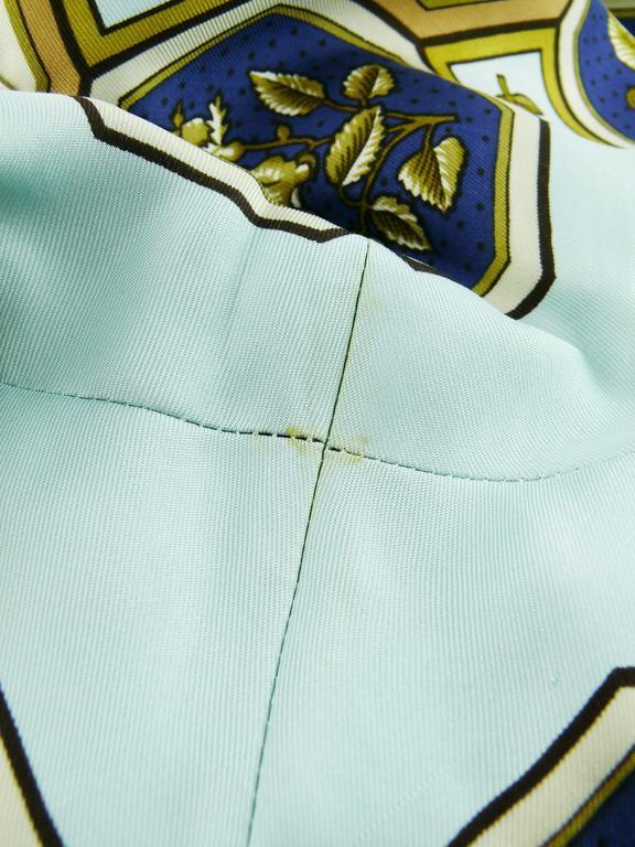 "Hermes Vintage ""Flora Botanica"" Silk Print Blouse and Shorts Set 10"