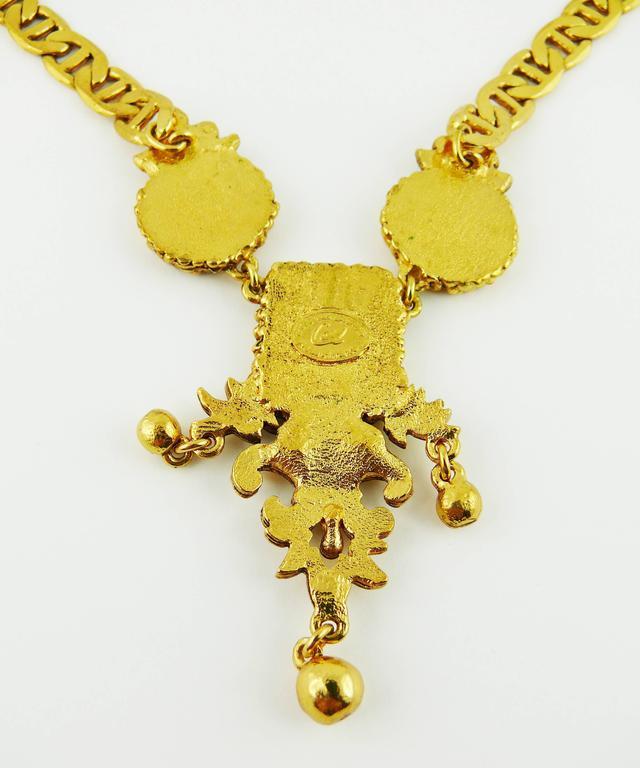 Christian Lacroix Vintage Baroque Venitian Mirror Necklace 7