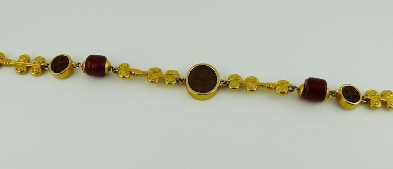 Karl Lagerfeld Vintage Gripoix Sautoir Necklace 3
