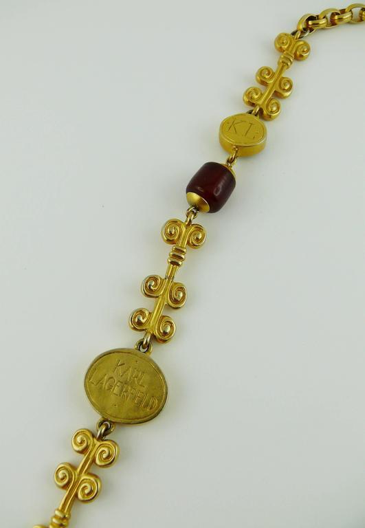 Karl Lagerfeld Vintage Gripoix Sautoir Necklace 5