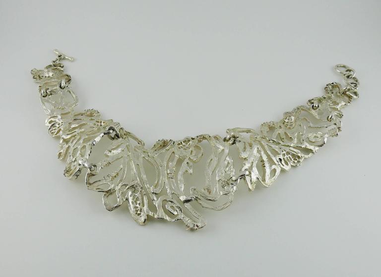Christian Lacroix Vintage Rare Opulent Jewelled Choker Necklace For Sale 4