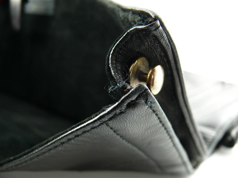Jean Paul Gaultier Vintage Black Lambskin Corset Bag Clutch For Sale 6