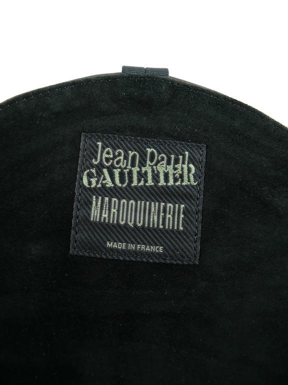 Jean Paul Gaultier Vintage Black Lambskin Corset Bag Clutch For Sale 5