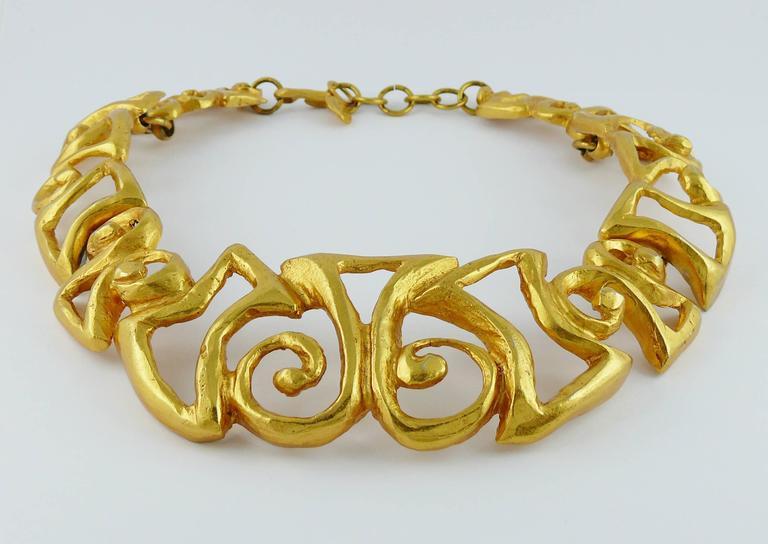 christian lacroix vintage iconic design gold toned choker necklace at 1stdibs. Black Bedroom Furniture Sets. Home Design Ideas