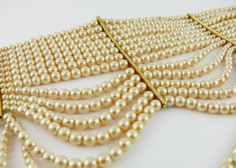 Christian Dior Iconic Multi Strand Edwardian Inspired Pearl Choker Necklace 3