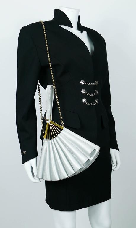 Karl Lagerfeld Vintage Rare Iconic Novelty Fan Bag For Sale 2