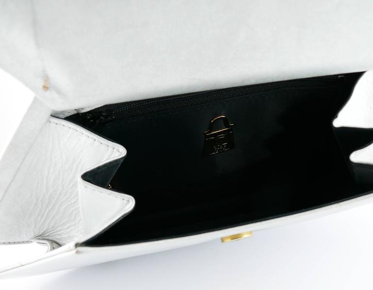 Karl Lagerfeld Vintage Rare Iconic Novelty Fan Bag For Sale 5