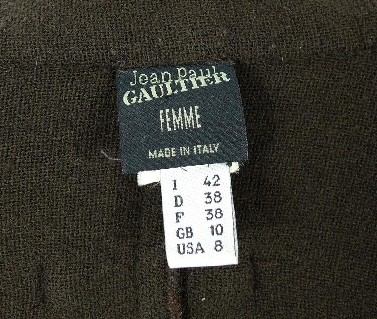 Jean Paul Gaultier Vintage 1990s Very Rare Brown Overall 7