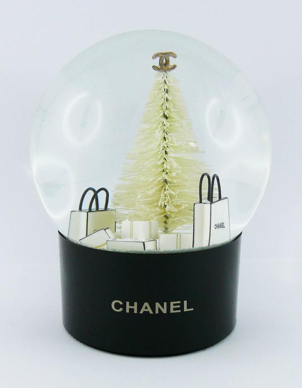 Gray Chanel Snow Dome For Sale