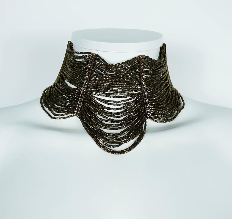 Christian Dior Multi Strand Choker and Bracelet Set 4