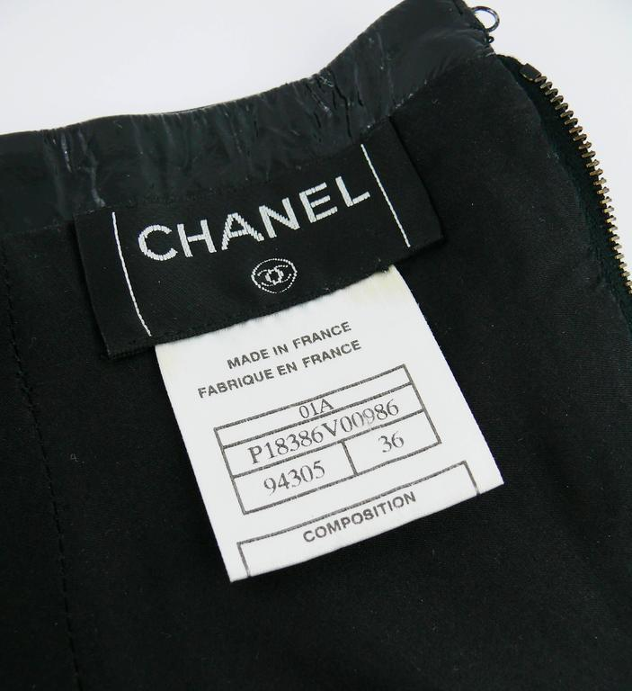 Chanel Black Patent Leather Corset Belt Fall/Winter 2001 Size 36 For Sale 5