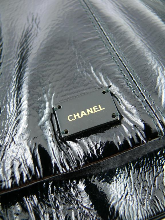 Chanel Black Patent Leather Corset Belt Fall/Winter 2001 Size 36 7