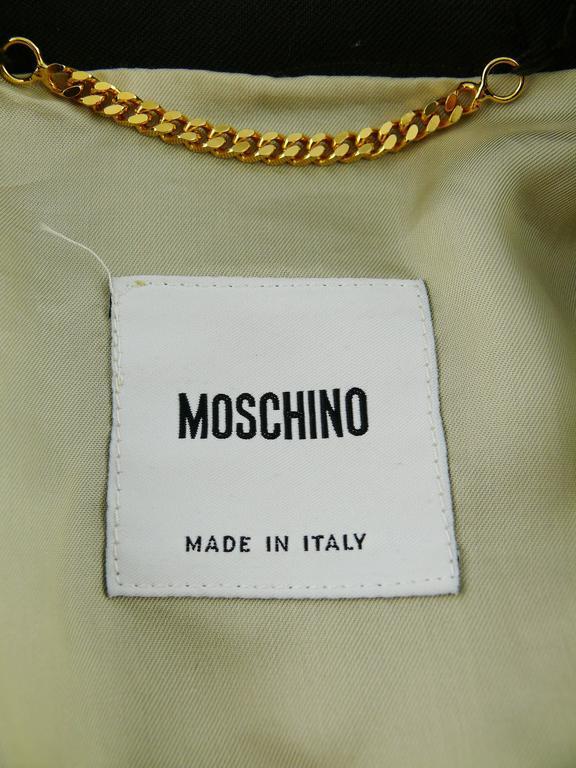 Moschino Military Style Jacket Size USA 12 9