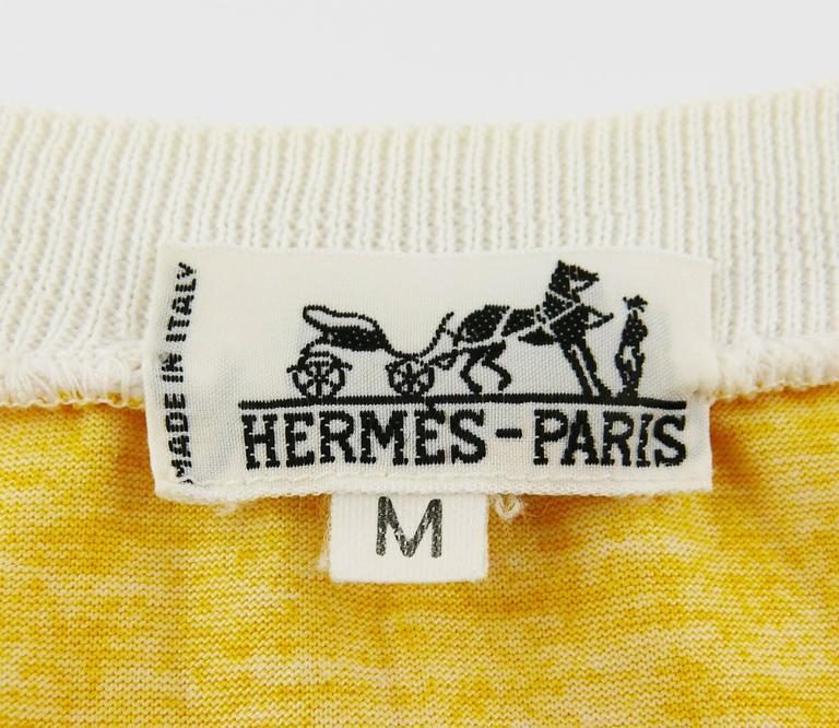 """Hermès Vintage """"Reprise"""" Print Cotton T-Shirt 10"""