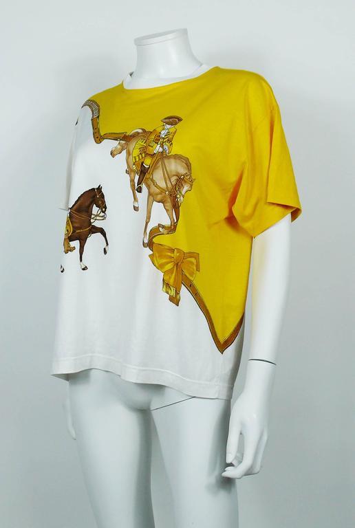 """Hermès Vintage """"Reprise"""" Print Cotton T-Shirt 5"""