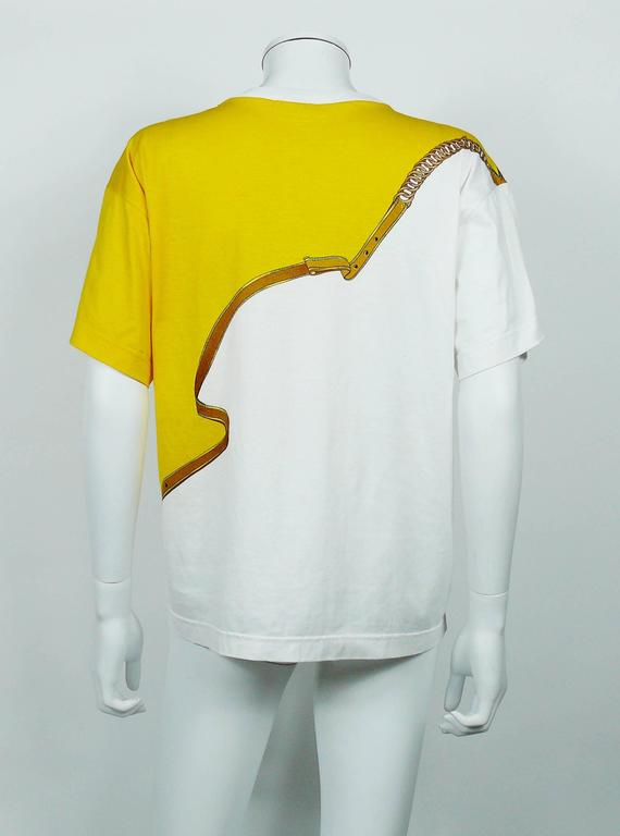 """Hermès Vintage """"Reprise"""" Print Cotton T-Shirt 9"""