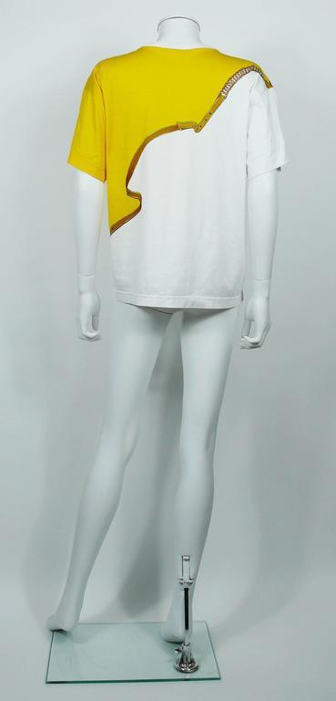 """Hermès Vintage """"Reprise"""" Print Cotton T-Shirt 8"""