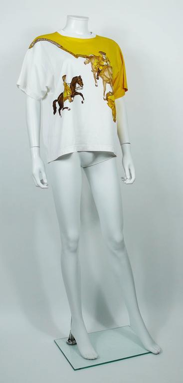 """Hermès Vintage """"Reprise"""" Print Cotton T-Shirt 6"""