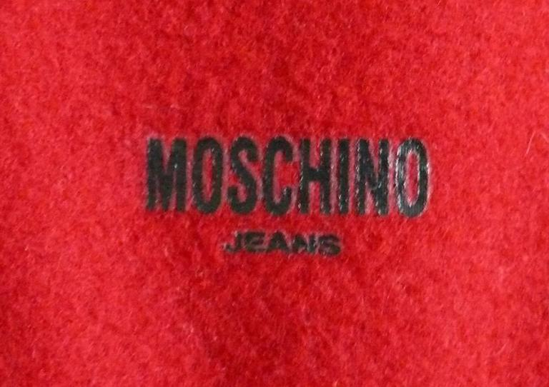 Moschino Iconic Red Multi Heart Handbag For Sale 5