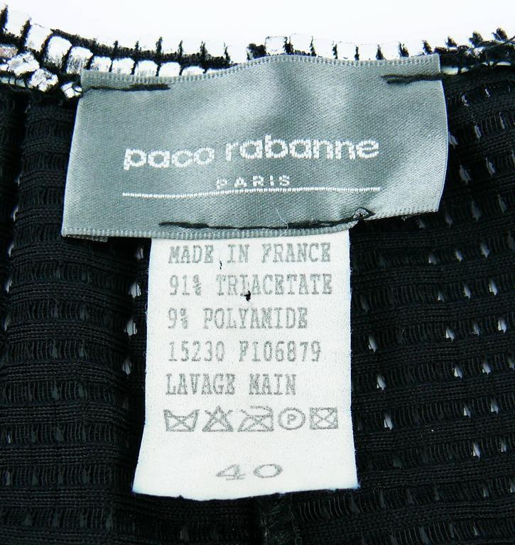 Paco Rabanne Silver Foil Grid Mini Dress 7