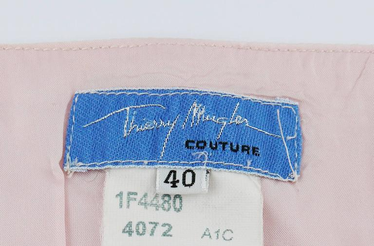 Thierry Mugler Couture Vintage Iridescent Pink Two Piece Suit For Sale 2