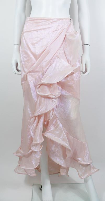 Thierry Mugler Couture Vintage Iridescent Pink Two Piece Suit For Sale 1