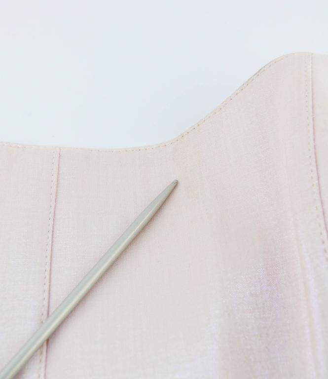 Thierry Mugler Couture Vintage Iridescent Pink Two Piece Suit For Sale 5