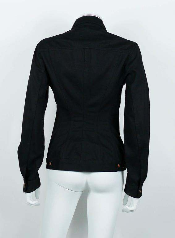 Jean Paul Gaultier Vintage Iconic Black Cage Jacket 8
