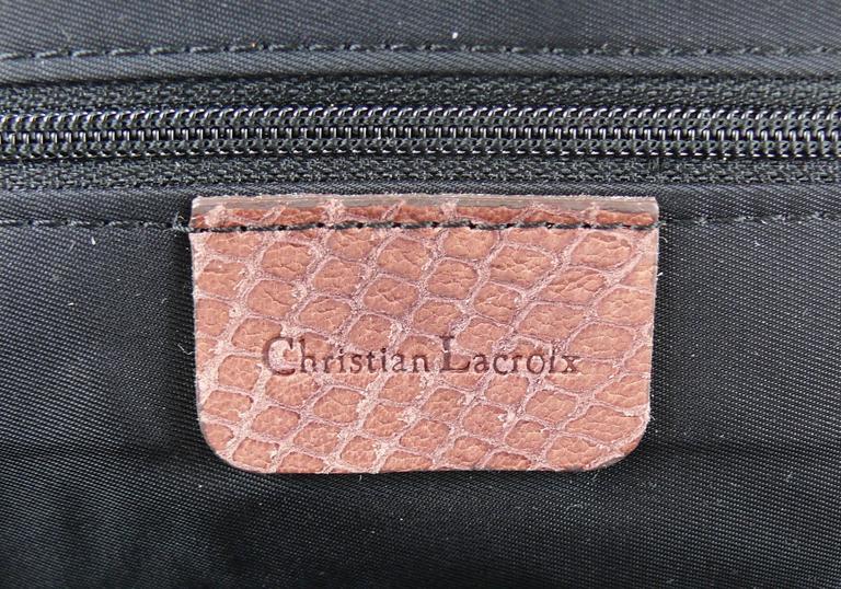 Christian Lacroix Vintage Tweed and Tartan Handbag For Sale 5