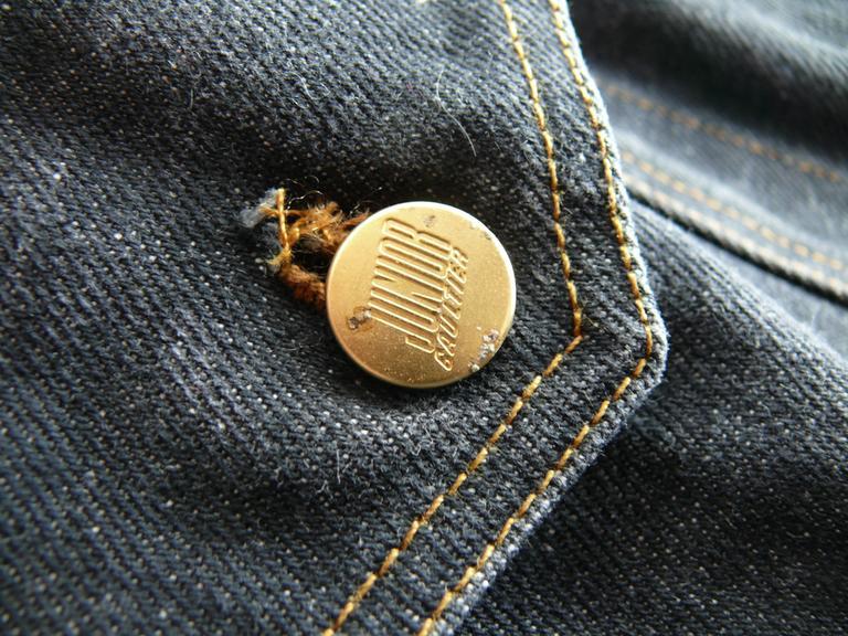 Jean Paul Gaultier Vintage Iconic  Black Denim Corset Style Sleeveless Jacket 10