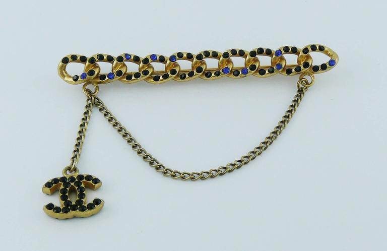 Chanel Jewelled Chain Brooch CC Charm Fall 2001 3