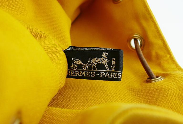 Hermès Vintage Saffron Yellow Sac Polochon Bag For Sale 6