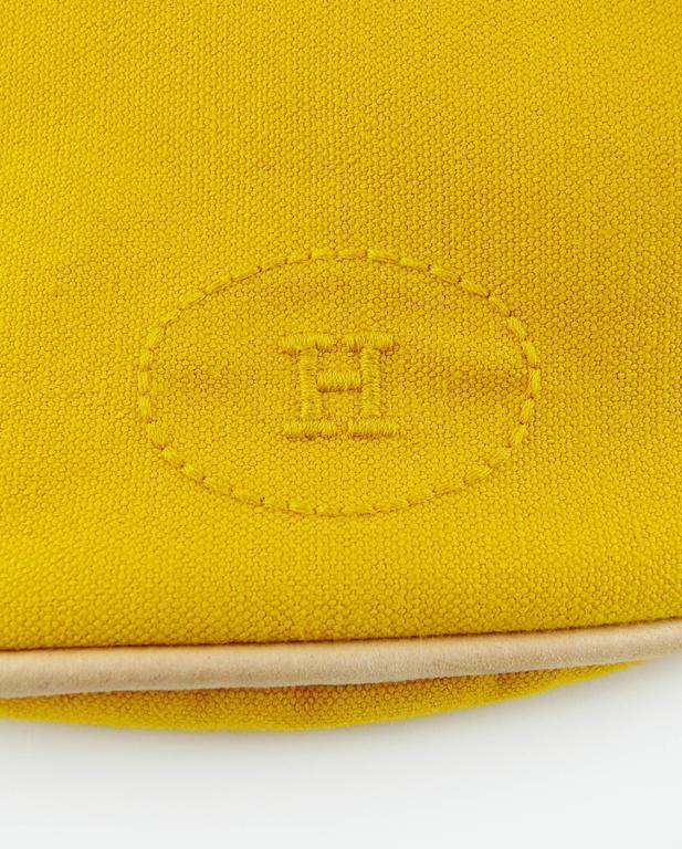 Hermès Vintage Saffron Yellow Sac Polochon Bag For Sale 5