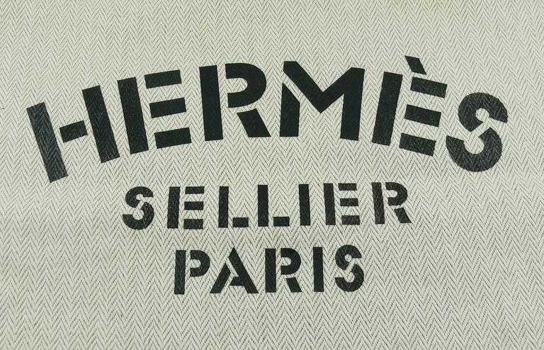 2a020373512f Hermes Vintage Aline XL Canvas Tote Bag In Excellent Condition For Sale In  French Riviera