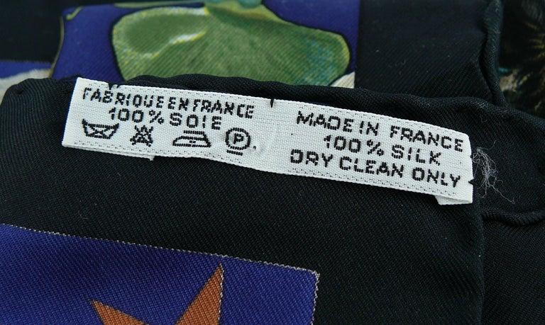 """Hermes Rare Silk Carre Scarf """"Faune et Flore du Texas """" by Kermit Oliver 9"""