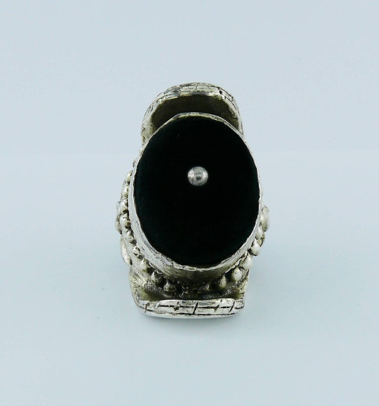 b6da3ad5bbdf Yves Saint Laurent YSL by Tom Ford Rare Massive Runway Sterling Silver Ring  For Sale 1
