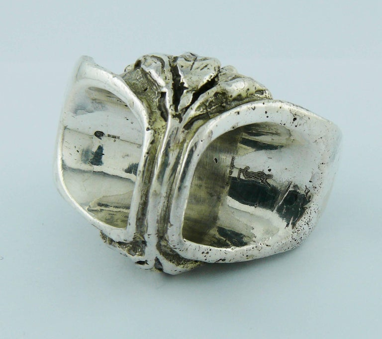c951420337f7 Yves Saint Laurent YSL by Tom Ford Rare Massive Runway Sterling Silver Ring  For Sale 5