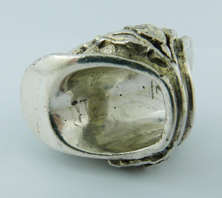 ee6085231643 Yves Saint Laurent YSL by Tom Ford Rare Massive Runway Sterling Silver Ring  For Sale 6