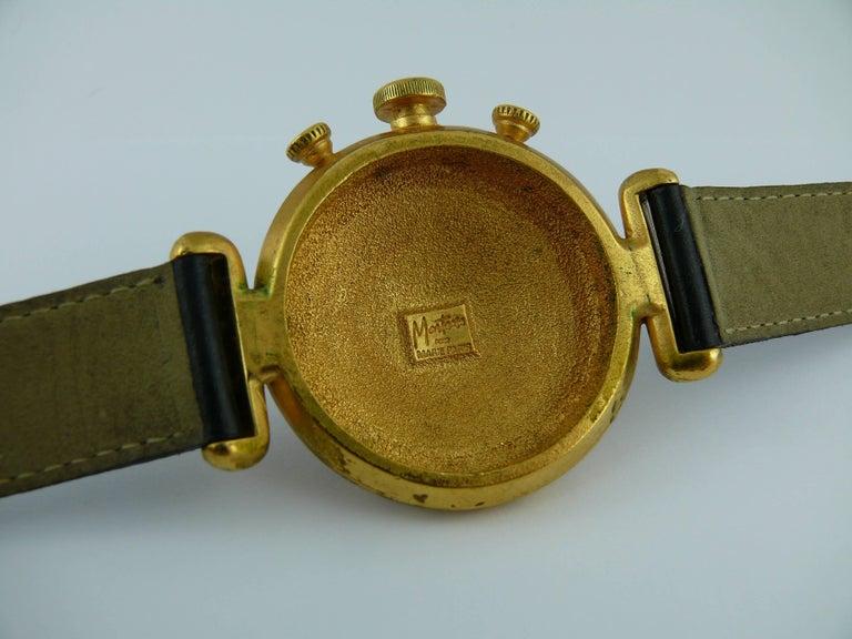 claude montana vintage trompe l 39 oeil watch dial double tour wrap bracelet for sale at 1stdibs. Black Bedroom Furniture Sets. Home Design Ideas