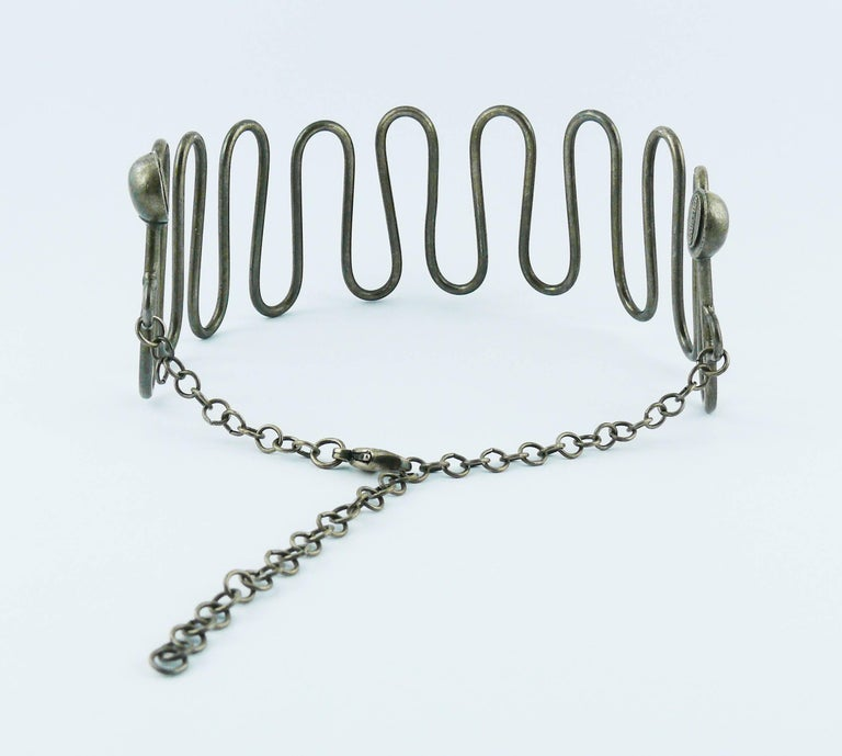 Jean Paul Gaultier Vintage Twisted Choker and Bracelet Set For Sale 2